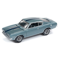 Johnny Lightning 1:64 Scale Classic Gold Collections Release 4 Set A 1967 Plymouth Barracuda Light Blue Metallic