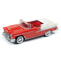 "Johnny Lightning 1:64 Scale 1955 Chevy Bel Air Convertible ""Havana Cuba Car Series"" Gypsy Red with India Ivory"