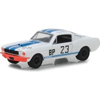 Greenlight 1:64 Scale Ford Racing Heritage Series 2 1965 Ford Mustang Shelby GT350 BP #23 Charlie Kemp White with Blue Stripes
