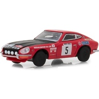 "Greenlight 1:64 Scale Tokyo Torque Series 4 1972 Datsun 240Z #5 Red with Black Hood Monte Carlo Rally ""Nissan Motor Co. Ltd"""