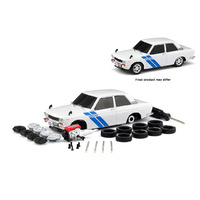 M2 Machines 1970 Datsun 510 (White) 3000pcs Worldwide 1:24 Scale