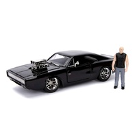 Hollywood Rides 1:24 SCALE FAST & FURIOUS DOM FIGURE WITH 1970 DODGE CHARGER