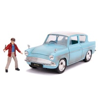 Hollywood Rides 1:24 Scale Harry Potter Figure With 1959 Ford Anglia