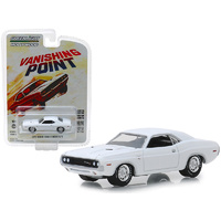 "Vanishing Point"" (1971) 1970 Dodge Challenger R/T White Hollywood"" Series 22 1:64 Diecast Model Car By Greenlight"