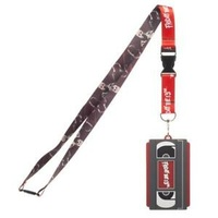Friday The 13th Lanyard with Rubber VHS Tape ID Lanyard Holder