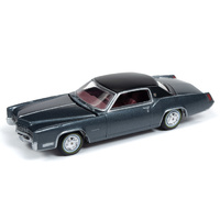 Auto World Muscle Cars Premium 2019 Release 1 - 1:64 Scale 1967 Cadillac Eldorado Summit Gray Metallic with Flat Black Top