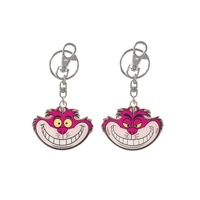 Alice in Wonderland Cheshire Cat Pewter Key Chain