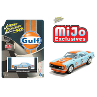 Johnny Lightning 1:64 Scale MiJo Exclusives - 1968 Chevrolet Camaro SS Gulf Racing (Light Blue/Orange)
