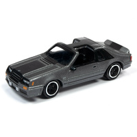 Johnny Lightning 1:64 Scale Street Freaks 2019 Release 3A - Projects In Progress - 1982 Ford Mustang GT (Grey Metallic)