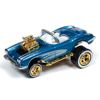 Johnny Lightning 1:64 Scale Street Freaks 2019 Release 2B - Zingers!- 1958 Chevy Corvette (Blue)