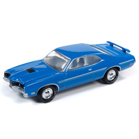 Johnny Lightning 1:64 Muscle Cars USA 2019 Release 3 Version B -1970 Mercury Cyclone Spoiler (Blue)
