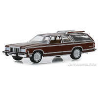 Greenlight 1:64 Estate Wagons Series 4 - 1980 Mercury Grand Marquis Colony Park in Dark Chamois Metallic with Woodgrain