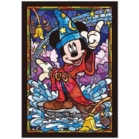 Tenyo Disney Mickey Mouse Jigsaw Puzzle - Stained Glass 266 pieces
