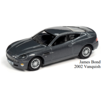 Johnny Lightning 1:64 Scale Pop Culture Series Release 1 - James Bond 2002 Aston Martin Vanquish (Die Another Day)