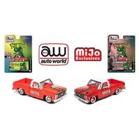 Auto World 1:64 Mijo Exclusive Rat Fink 1978 Chevy Silverado K10 Rat Rod  Set of 2 Limited 3,000 Pcs Each