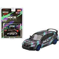 MiJo Exclusives - True Scale Miniatures Mini GT - Honda Civic Type R (FK8) HKS Time Attack (2018) Limited Edition to 1200pcs Worldwide