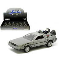 Hollywood Rides 1:32 Scale  -  Hollywood Rides - Back to the Future 2 Time Machine (Brushed Metal)(Pull-Back Action)