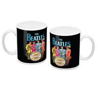 The Beatles Sgt Peppers Black Mug
