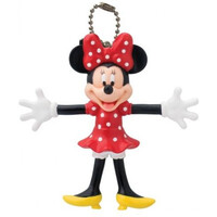 Keyring PVC Bendable Keyring Minnie Mouse