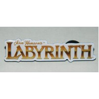 Jim Henson's Labyrinth Movie Name Logo Metal Enamel Die-Cut Pin