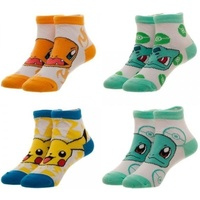 Pokemon 4 Pair Youth Ankle Socks
