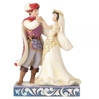 Jim Shore Disney Traditions - Snow White & Prince Wedding Figurine - The First Dance