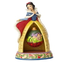 Jim Shore Disney Traditions Snow White and the Seven Dwarfs Snow White and Dopey Christmas Tidings of Goodwill Statue