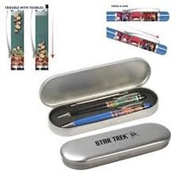 Star Trek Floating Pen Set - Trouble with Tribbles and Spock & Kirk