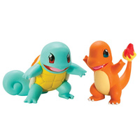 Pokemon Action Pose Figures - Squirtle vs Charmander