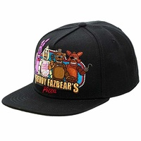Five Nights At Freddy's Group Black Snapback