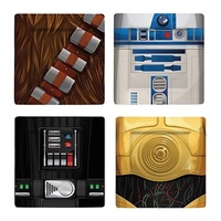 STAR WARS SET OF 4 SQUARE PLATTERS