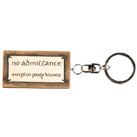 The Lord of the Rings Keyring No Admittance Sign