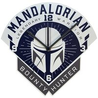 Star Wars The Mandalorian Bounty Hunter Wall Clock