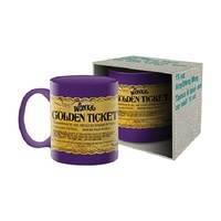Willy Wonka Golden Ticket Mug