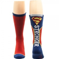 Superman Text Logo Active Crew Mens' Socks