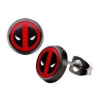 Deadpool Logo Stud Earrings