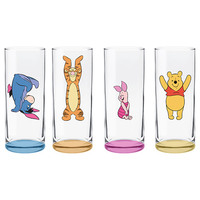 Disney Winnie the Pooh High Ball Glasses - Set of 4