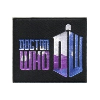 Doctor Who British TV Series Matt Smith Logo Embroidered Patch