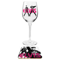 ELVIS: WINE GLASS & COASTER