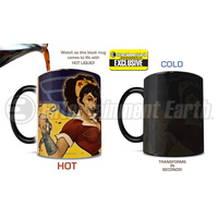 DC Comics Justice League Wonder Woman She Can Do It Bombshells Morphing Mug Entertainment Earth Exclusive