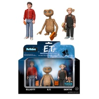 E.T. the Extra-Terrestrial - E.T., Elliot & Gertie ReAction Figure 3-Pack