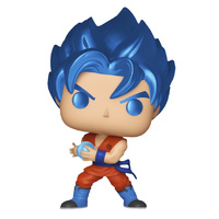 Dragon Ball Z - SSGSS Goku with Kamehameha Metallic Pop! Vinyl [RS]