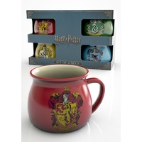 Harry Potter Mugs - Gift Box Set of 4 - House Crests
