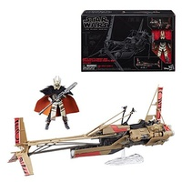 "Star Wars The Black Series 6"" Swoop Bike Vehicle with Enfys Nest Action Figure"