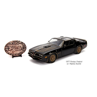 Hollywood Rides 1:24 Scale Smokey & The Bandit 1977 Pontiac Firebird With Buckle