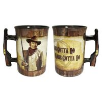 John Wayne Mug - Pistol Handle 16oz