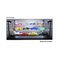 1:64 Lighted Display Case with 2 Tiers (Black)