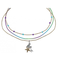 THE LITTLE MERMAID - 3 NECKLACE ARIEL SET