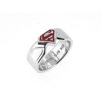 DC Comics - Superman Stirling Silver & Enamel Ring