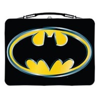 Batman 2020 Large Carry All Tin Tote Lunch Box - Version 2 Logo